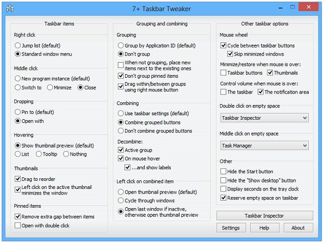 7 Best Apps to Enhance Default Windows Features Taskbar Tweaker