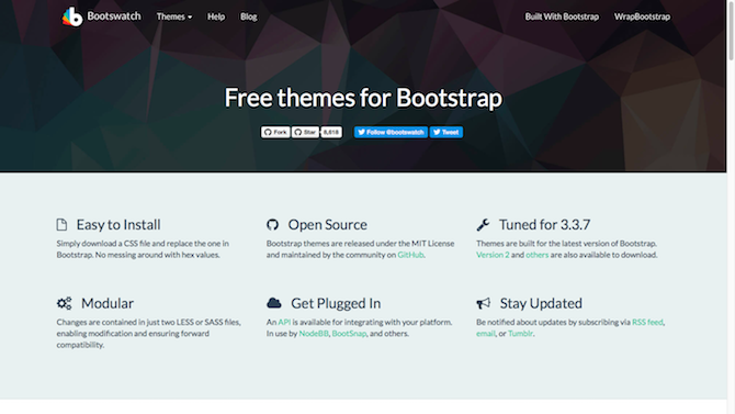 11 CSS Template Sites: Don't Start From Scratch! bootswatch