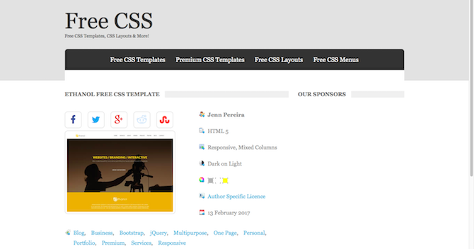 11 CSS Template Sites: Don't Start From Scratch! free css