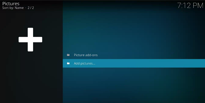 adding photos to kodi