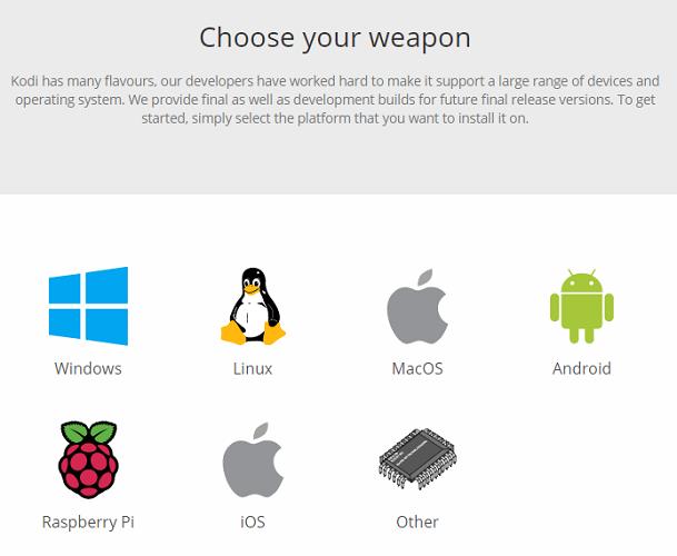 installing kodi platforms