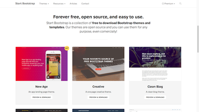 11 CSS Template Sites: Don't Start From Scratch! startbootstrap