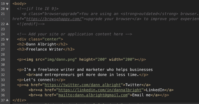 create website from scratch with HTML5 boilerplate template