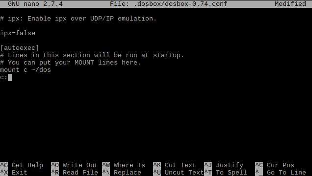 Configure DOSBox to auto-mount a directory.